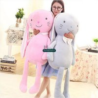 Dorimytrader 100cm Large Nouvelle Longue oreille Bunny Peluche Jouet Poupée Dormant 39 '' Big Farfoun Cartoon Rabbit Pillow Baby Present DY61520