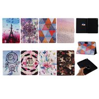 Wholesale Silicon Rubber Wallets - Leather Wallet Case For Apple iPad Pro 9.7 2017,2016,iPAD Air,Air 2 Ipad 5 6,2 3 4 Holder Stand Card Slot Pouch Flower Stand Flip Covers