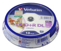 Wholesale Double Cake Box - Wholesale- 10 Pieces Verbatim balnk printable DVD+R DL 8X Dual Layer 10 Discs DVD +R dl 8.5GB with original cake box