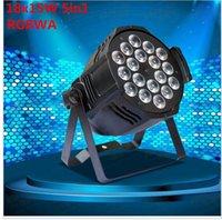 Wholesale 5in1 Led Par - 18x15W Led Par Light RGBWA 5in1 DMX Professional Lighting Indoor Stage Lights DJ Equipment Par Led