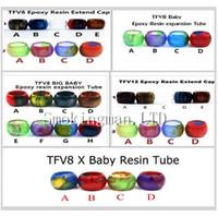 ingrosso vetro epossidico-Capsule di ricambio in resina colorata Grande capacità per TFV8 Baby Big Baby X Baby Serbatoio in vetro TFV12 Serbatoio di espansione Puntali in resina epossidica