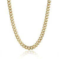 Wholesale Circular Gift Boxes - Chain statement necklaces & pendants Gold mens necklace jewelry for boys sideways simple circular with gift box NK-180