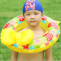 Wholesale Mix Wholesale Inflatable - 60 70 80CM Inflatable Swing Ring Strawbeey Butterfly Bow Life Circle Swimming Floats Thicker Pool Toys For Kids Mix Order