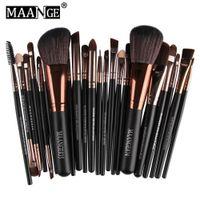 maange escova conjunto venda por atacado-MAANGE Marca Professional 22 pcs Cosméticos Pincéis de Maquiagem Set Blush Sombra Fundação Em Pó Sobrancelha Lip Make up Brush kit + B
