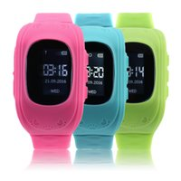 браслет gps запястье оптовых-Wholesale- 2017 Newest Anti Lost Children Kid Smart watch GPS Position Rubber Band Wrist Watch Bracelet Electronic Wat For Android For IOS