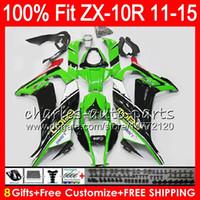 Wholesale Kawasaki Stock Fairings - 8Gifts 23Colors Injection For KAWASAKI NINJA ZX 10 R ZX10R 11 12 13 14 15 Stock green 50NO7 ZX 10R ZX-10R 2011 2012 2013 2014 2015 Fairing