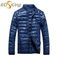 Wholesale Cheap Korean Style Clothing - Wholesale- Man Blue Down Jacket Brand Clothing Male Winter Jacket Mens Duck Cheap Down Parka Korean Style Goose Park Coat Erkek Mont Homme