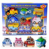 Wholesale Robocar Poli Toys - Poli Toys Korea Robocar Poli - Poli  Amber Roy Helly Spring Team Car Plastic Safe Toy Children Gift