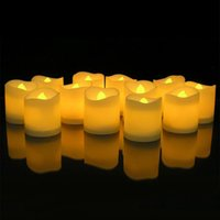 24pcs / box Flameless Votive Candles Battery Operated Flickering LED Party Tea Light Supplies