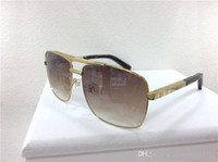 serin tasarımcı güneş gözlüğü toptan satış-Erkekler güneş gözlüğü tasarımcı güneş gözlüğü erkekler için tutum tutum güneş gözlüğü boy boy güneş gözlükleri kare çerçeve açık serin deisgn