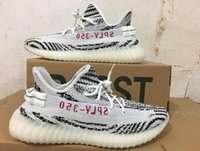 Wholesale Infant Zebra Shoes - 2017 With Box 2016 Cheap Wholesale Mens and Womens Running Shoes Grey Orange Stripes Zebra Bred Black Red 10 Color Infant 350 V2 Boost