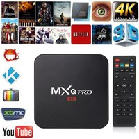 Wholesale Wholesale Android Set Top Boxes - MXQ PRO Android tv box RK3329 Android 6.0 1G 8G WiFi 4K Loaded add-ons 1080i p set top box