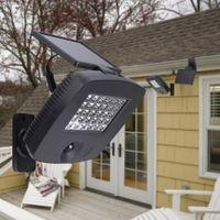 Wholesale Solar Powered Balcony Lights - 30LEDs Ultra Bright Outdoor Solar Powered Wall Lamp PIR Motion Sensor Light for Garden Balcony Courtyard