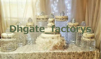 Wholesale Wedding Cake Crystal Chandelier - Sparkling Crystal clear garland chandelier wedding cake stand birthday party supplies decorations for table top centerpieces