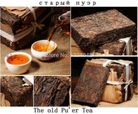 Wholesale puer raw resale online - New SALE Made in raw pu er tea g oldest puer tea ansestor antique honey sweet dull red Puerh tea ancient tree freeshipping