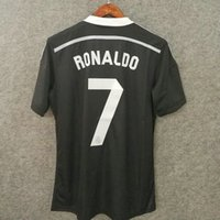 Wholesale Madrid 14 - Perfect soccer jerseys 14 15 madrid 3rd black custom name number RONALDO 7 football shirts cothing AAA quality soccer uniforms cothing