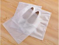 Wholesale shoe storage designs resale online - New Design big X35cm Travel Storage Shoe Dust proof Tote Dust Bag Case black white Non Woven Travel Shoe Storage Bag