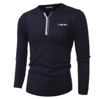 Wholesale Men S Double Breasted Sweaters - Wholesale- Men's knit sweater 2016 new Slim long-sleeved button V collar sweater men's fashion personality 7719