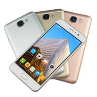 MTK6580 Quad Core 5 Zoll Smartphones C7 1GB 8GB ROM Fake 64GB 4G freigeschaltete 3G Android Handy Geste QHD 5MP Rose Gold