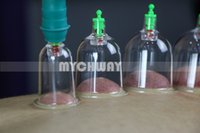 Wholesale Cupping Apparatus - 1 Set 12pcs Cups Extension Tube Pump Chinese Modern Vacuum Healthy Cupping Set Massage Therapy Suction Apparatus