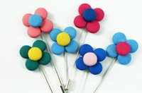 Wholesale Small Leaves Plants - 2017 NEW Four Leaves Clover corsage Lucky grass brooches pin men's suit flower brooches for wedding party Small decorated