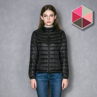 CHERRY CHICK! Женщин с ультралегким весом Packable Зимняя куртка Puffer Down Parka Ladys Fit Slim Casual Outwear With Stack Sack Factory Sale