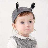neue koreanische mädchenfotos großhandel-Neue Baby Mädchen Stirnbänder Koreanische Kitty Ohr Stirnbänder Kinder Elastische Baumwolle Haarband Mode Kinder Haarschmuck Foto Stirnbänder KHA531