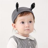 nuevas fotos de chicas coreanas al por mayor-Nuevas diademas para bebés, diadema de oreja coreana para niños, diadema de algodón elástico para niños, accesorios para el cabello para niños, diademas para fotos KHA531