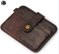 Wholesale Mens Leather Business Card Case - Mini Slim Credit Card Case Wallet Womens Mens Card Holder Leather Card Case Compact Wallet Color Assorted