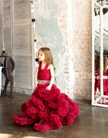 Wholesale Party Frocks For Baby Girls - Cloud Little Flower Girls Dresses for Weddings Baby Party Frocks Sexy Children Images Dress Kids Prom Dresses Evening Gowns 2017 Custom made