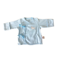 Wholesale monks clothing - New Born Baby Sleepwear Cotton Underwear Long Sleeve Cotton Months Infant Light Blue Tank Tops Kids Monk Clothes