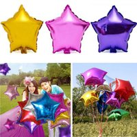 Wholesale Five pointed Star Helium Foil Balloon Party Wedding Birthday Decor Self sealing aluminum balloons fashion new B1