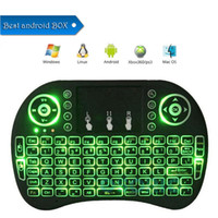 Wholesale mini pc andriod - Colorful Backlight Rii i8 Mini Keyboard Wireless Gaming Handheld Air Mouse Remote Control for PC Pad Google Andriod TV Box Xbox360