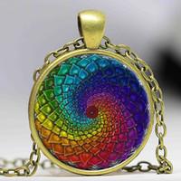 gold om pendants Canada - Handmade om symbol Zen Buddhism Yaga dazzling jewelry necklaces henna flower mandala India style pendant necklace