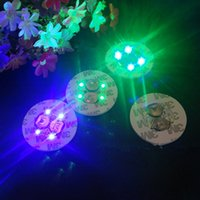 Wholesale Card Clubs - Factory Price LED Coaster Flashing Light Bulb Bottle Hookah Led Light Mat Cup Mat Colorful Light Up For Club Bar Home Party