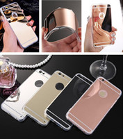 Cheap For Apple iPhone cover iphone Best TPU Silver thin mirror