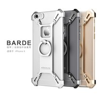 Wholesale Metal Back Bumper - Nillkin Barde Metal case Ring Shape Holder Case for iphone 6 6s 7 6plus 7s plus Stand Back Cover bumper Kickstand function
