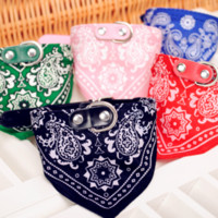 Wholesale New time limited bandanas bows accessories red pink dog accessories pet products saliva scarf pu leather triangular bandage collar
