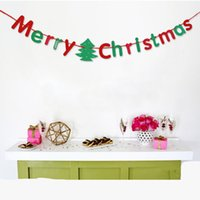 Wholesale Paper Pennant - Christmas Decoration Banner Decor Festive Supplies Merry Christmas Letters Pennant Flag Home Party Colorful Paper Gift Decorative Bedroom