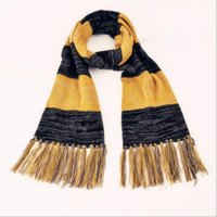 Wholesale Scarf Findings Wholesale - Harry Potter Fantastic Beasts and Where to Find Theme Scarf Winter Warm Yellow&Black Striped Tassel Shawl Cosplay Scarves