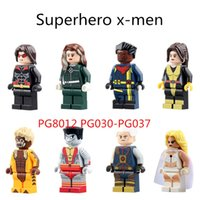 x men classics figures achat en gros de-8PCS Marvel X-men Super Heroes Sabretooth Colossus White Queen Mini bricolage Classique Classique d'action Block Christmas gift PG8012