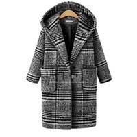 2017 Winter Style Europeo Plus Plus XL- 5XL Women WoolBlends Giacche pagate Cappotti con cappuccio Basic Black Costumi da bagno Dollar Price