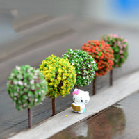 Wholesale Wholesale Ceramic Figurines - Wholesale- Mini Garden Decorations Resin Tree Fairy Garden Miniatures Trees Garden Decoration Terrarium Figurines Miniature Fairy Figurines