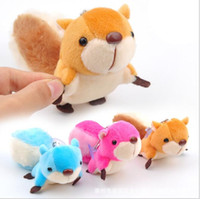 Wholesale Toy Squirrels For Kids - Kawaii Squirrel Plush Doll Toys Keychain for Backpack Phone Coin Case,Children Kids Gift Red Blue Brow Stuffed Animal Toy