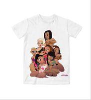 muñecas de niña de tamaño real al por mayor-Real American EE. UU. Tallas por encargo Las chicas buenas beyonce nicki minaj kash muñeca ámbar rosa Sublimación 3D camiseta impresa unisex ropa