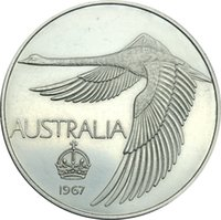 Wholesale Coin Inlay - Australian 1967 1 Dollar, Pattern 'Crown' Swan dollar in Copy Coin