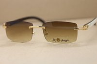 Wholesale Buffalo Logos - HOT buffalo horn glasses 8200757 Black Mix WHite Sunglasses with logo and box Frame Size: 56-18-140mm