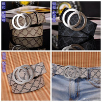 Wholesale Branded Designer Belt For Men - Cinto 2017 Famous Brand Genuine Leather Men Belt Designer Luxury High Quality G Smooth Buckle Mens Belts For Women Jeans Cow Strap Waistband