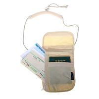 Wholesale Neck Coin Pouch - Unisex Money Purse Neck Purse Wallet Women Travel Storage Bag Money Coin Cards Passport Holder Neck Tickets Bag Pouch