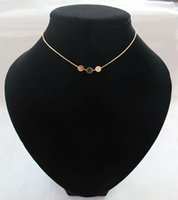 New Trend Fashion Femmes Geometric Chokers Gold Punk Circle Pendentif Collier Cheap Sale